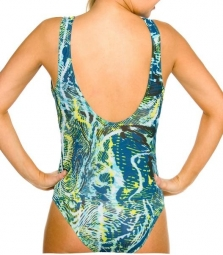 Sancho Tan Through support top swimsuit
