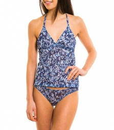 Luanda Tan Through tankini top