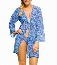Como Tan Through Knee Length Kaftan