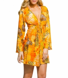 Tropic Tan Through Knee Length Kaftan