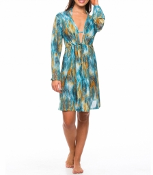 Vesper Tan Through Knee Length Kaftan