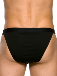 Dean Tanga Black Stretch Cotton