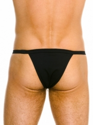 Kelly Tanga Black Stretch Cotton