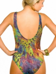 Amalfi Tan Through Support Top Swimsuit