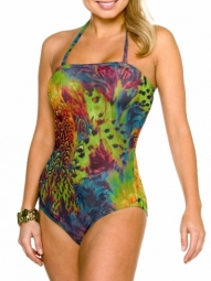 Amalfi Tan Through Tube Swimsuit