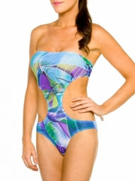 Bermuda Tan Through Cut-Out swimsuit